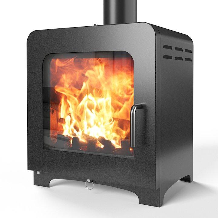 Saltfire ST4 Multifuel Stove - Metallic Black
