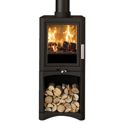 Broseley Evolution 5 Logstore Multifuel Stove Black Deluxe