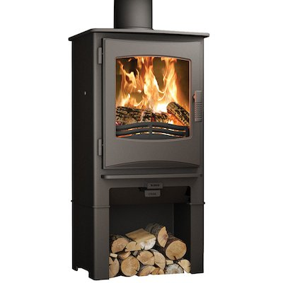 Broseley Evolution Desire/Ignite 5 Logstore Multifuel Stove Black Cast-Iron Door