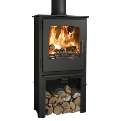 Broseley Evolution Desire/Ignite 5 Logstore Multifuel Stove Black Steel Door