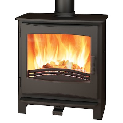Broseley Evolution Desire/Ignite 7 Multifuel Stove Black Cast-Iron Door