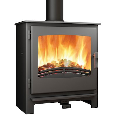 Broseley Evolution Desire/Ignite 7 Multifuel Stove Black Steel Door