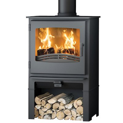 Broseley Evolution Desire/Ignite 7 Logstore Multifuel Stove Black Steel Door