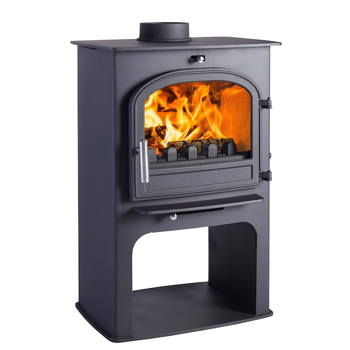 Cleanburn Norreskoven Logstore Multifuel Stove Black Single Door - Black