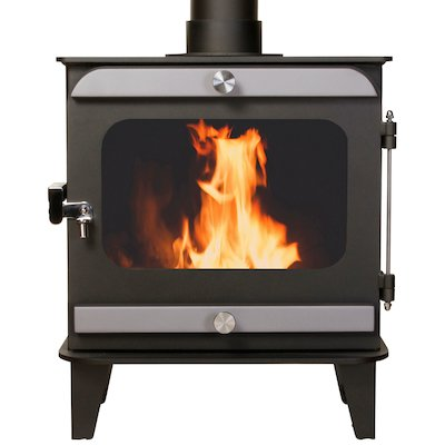Firestorm 10 Multifuel Stove Anthracite Brushed Stainless Trim