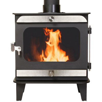 Firestorm 10 Multifuel Stove Black Brushed Stainless Trim