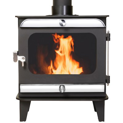 Firestorm 10 Multifuel Stove Black Polished Stainless Trim