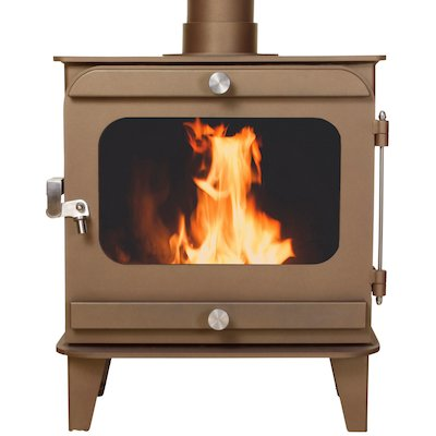 Firestorm 10 Multifuel Stove Honey Glow Brown Colour Matched Trim