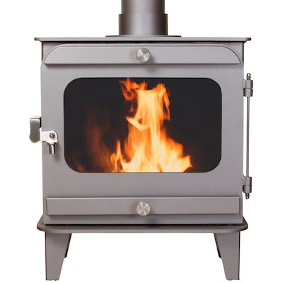 Firestorm 10 Multifuel Stove Metallic Brown Colour Matched Trim