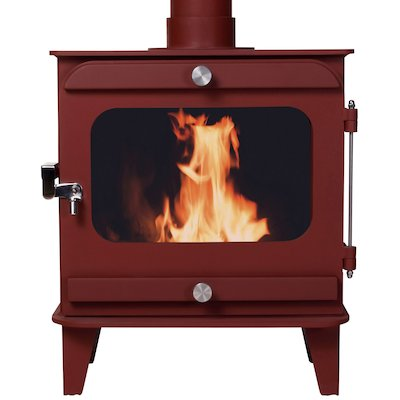 Firestorm 10 Multifuel Stove Mojave Red Colour Matched Trim