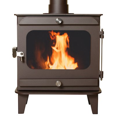 Firestorm 10 Multifuel Stove Metallic Rich Brown Colour Matched Trim