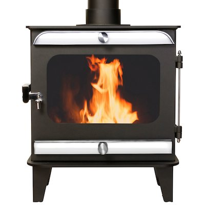Firestorm 6.5 Multifuel Stove Anthracite Polished Stainless Trim