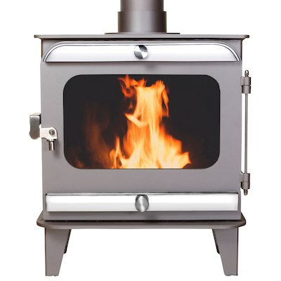 Firestorm 6.5 Multifuel Stove Metallic Brown Polished Stainless Trim
