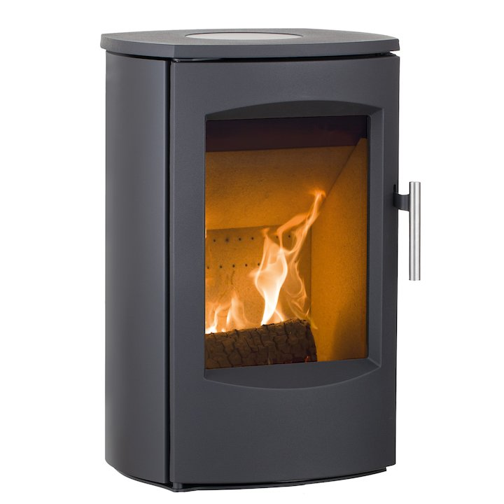 Heta Scanline 7C Low Multifuel Stove - Black