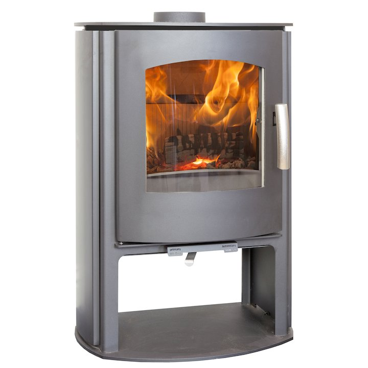 Mendip Churchill 5 Logstore Multifuel Stove - Black