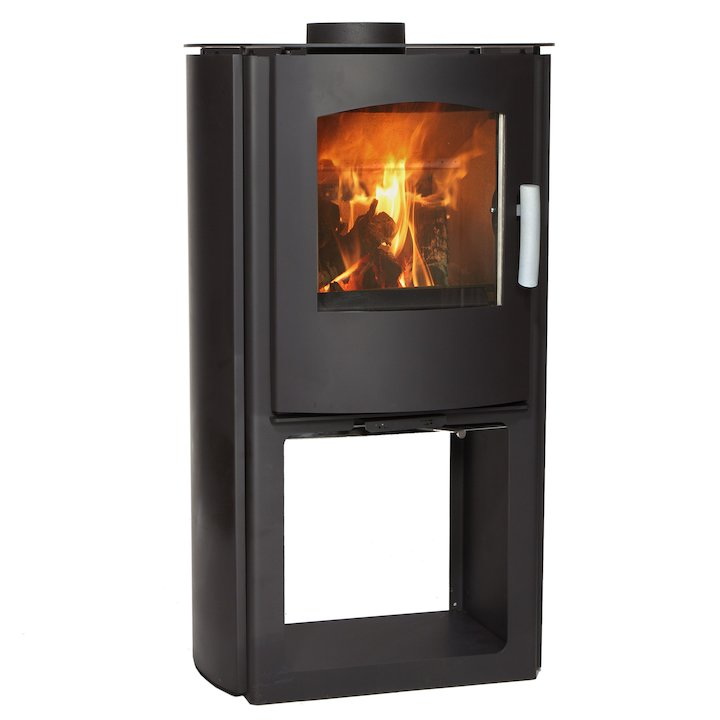 Mendip Churchill 8 Logstore Multifuel Stove - Black