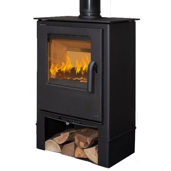 Mendip Loxton 5 Logstore Multifuel Stove - Black