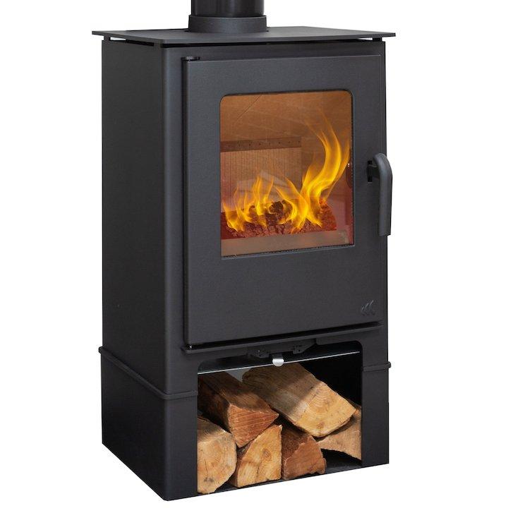 Mendip Loxton 8 Logtore Multifuel Stove - Black