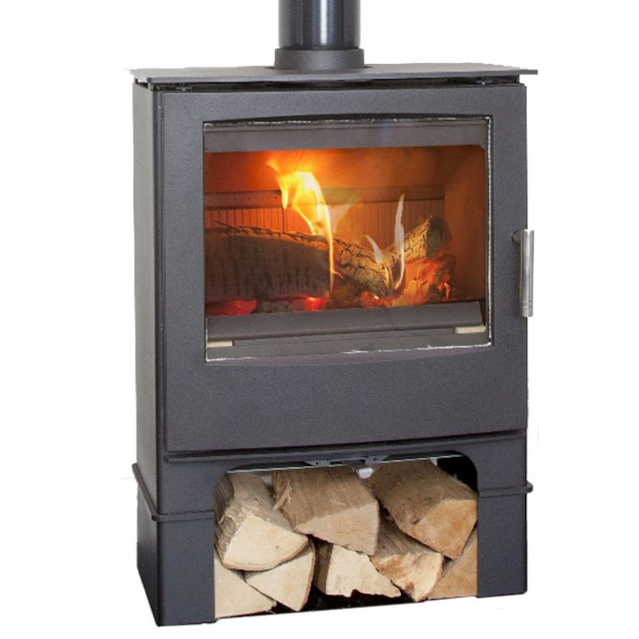 Mendip Woodland Logstore Multifuel Stove - Black