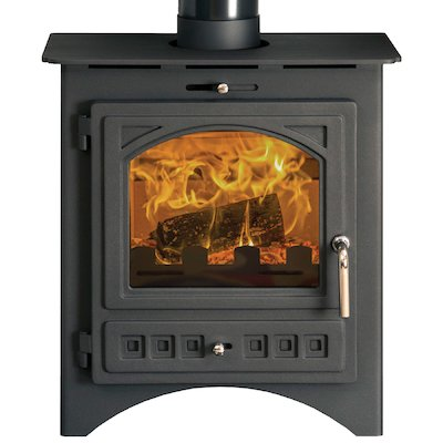 Pevex Bohemia X40 Multifuel Stove Black Cast-Iron Door