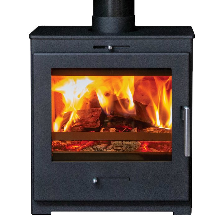 Pevex Bohemia X60 Cube Multifuel Stove Black Solid Sides - Black
