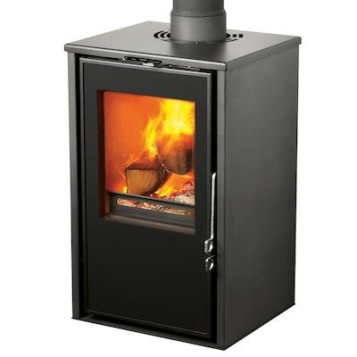 Pevex Serenity 40 Logstore Multifuel Stove Black Logstore with Door