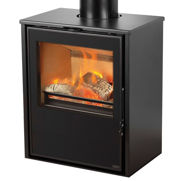 Pevex Serenity 50 Logstore Multifuel Stove Black Logstore with Door Ridiling Grate - Black