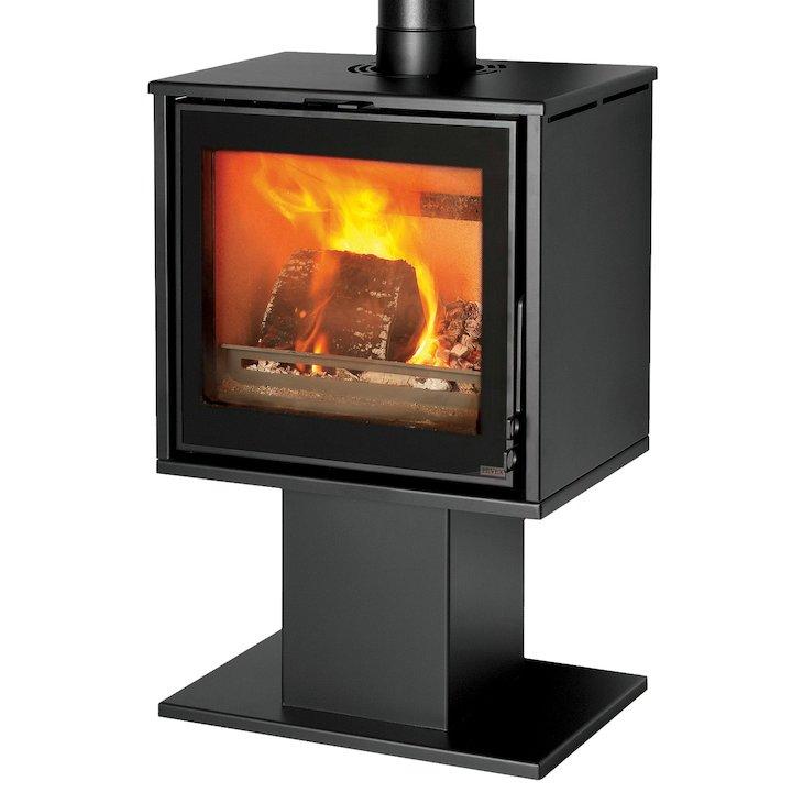 Pevex Serenity 50 Pedestal Multifuel Stove - Black