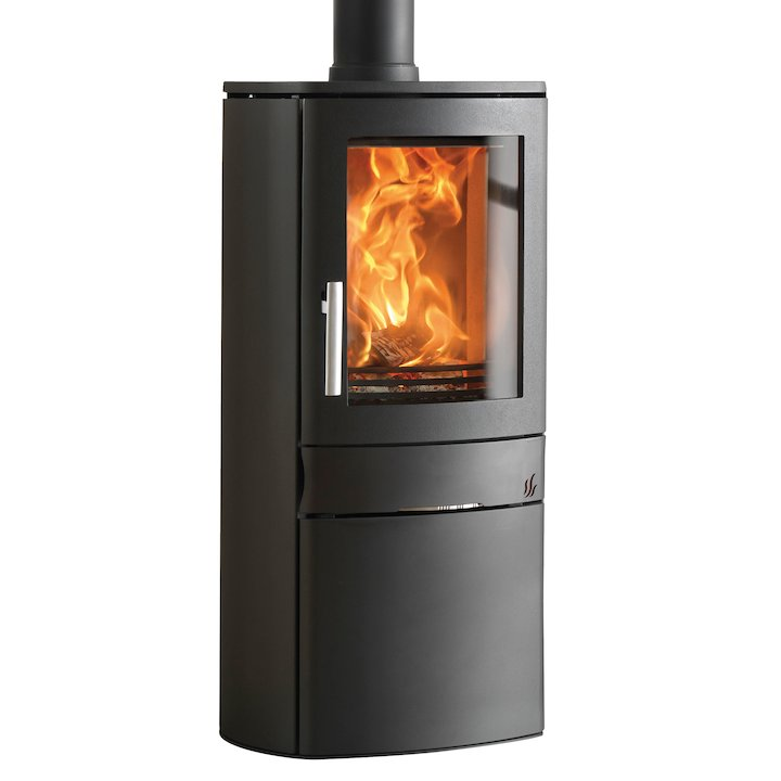 ACR Neo Logstore Multifuel Stove Black Solid Sides - Black