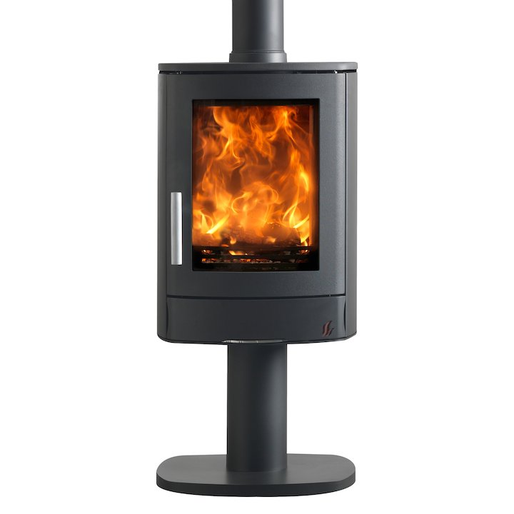 ACR Neo Pedestal Multifuel Stove Black Solid Sides - Black