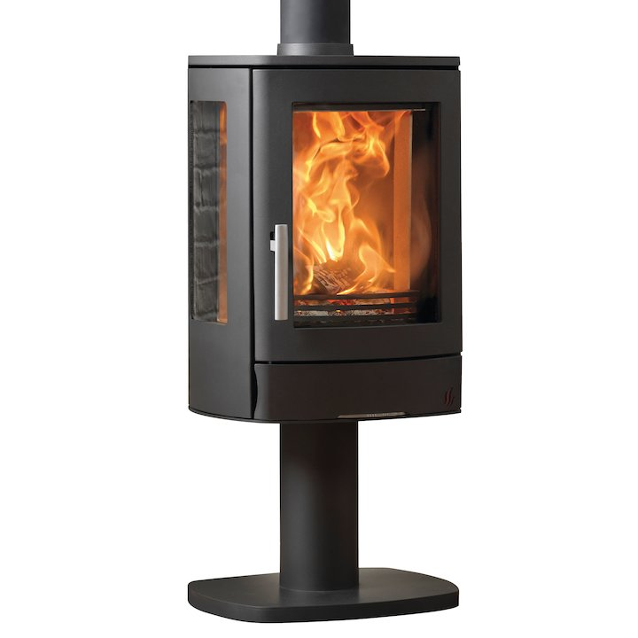 ACR Neo Pedestal Multifuel Stove Black Side Glass Windows - Black