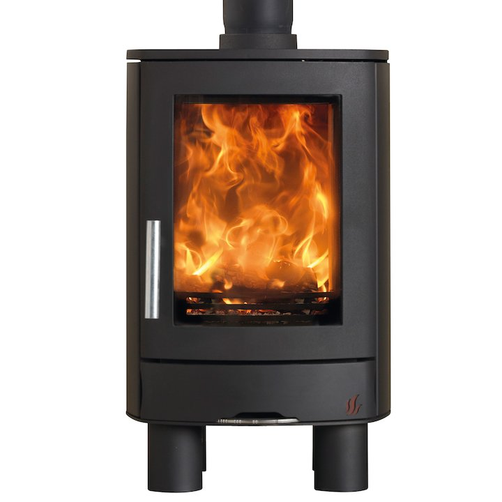 ACR Neo Multifuel Stove Black Solid Sides - Black