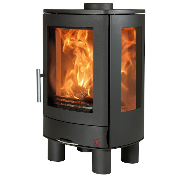 ACR Neo Multifuel Stove Black Side Glass Windows - Black