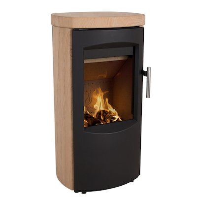 Heta Scanline 7B Multifuel Stove Yellow Sandstone Black Trim