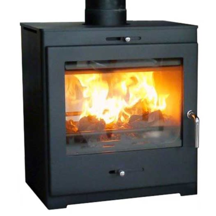 Pevex Bohemia X60 Cube Double Sided Multifuel Stove - Black