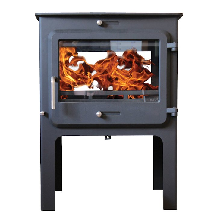 Ekol Clarity 12 Double Sided Logstore Multifuel Stove - Black