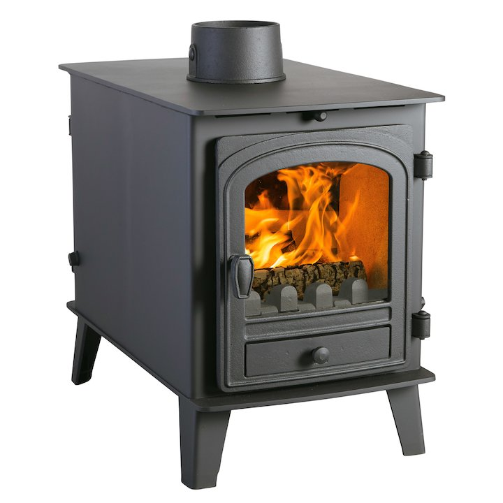 Parkray Consort 4 Double Sided Multifuel Stove - Double Depth - Black