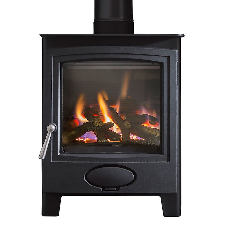 Arada Ecoburn Plus Conventional Flue Gas Stove - Midnight Black
