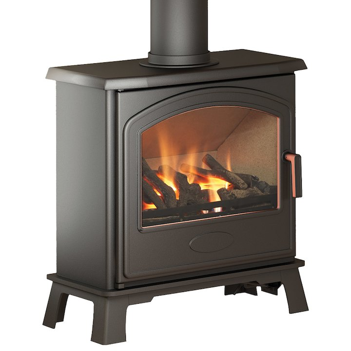 Broseley Hereford 7 Conventional Flue Gas Stove - Black