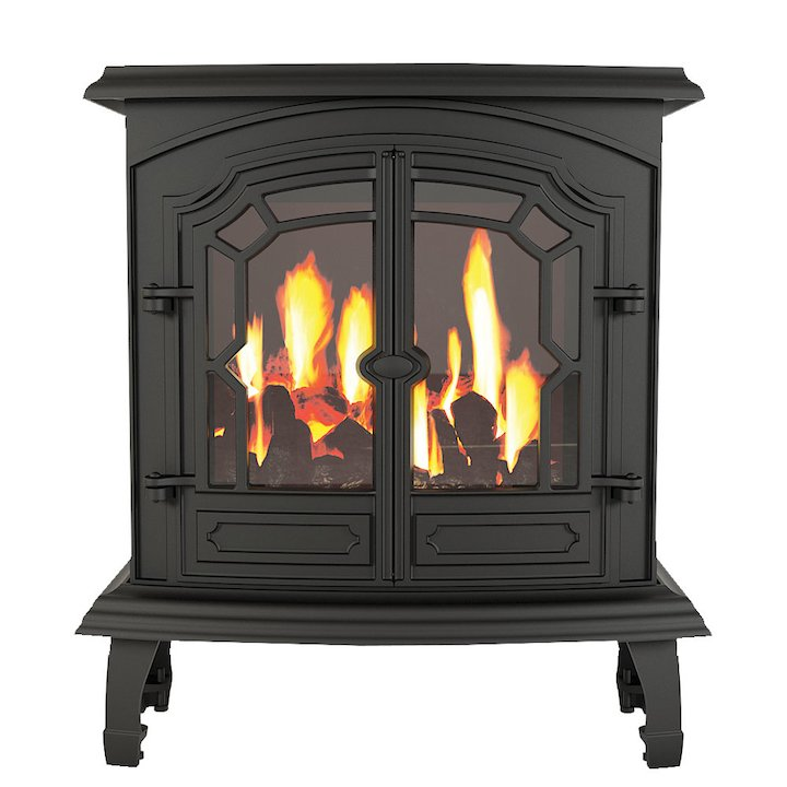 Broseley Lincoln Conventional Flue Gas Stove - Black