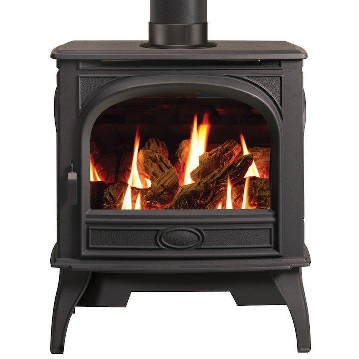 Dovre 425 Conventional Flue Gas Stove - Black