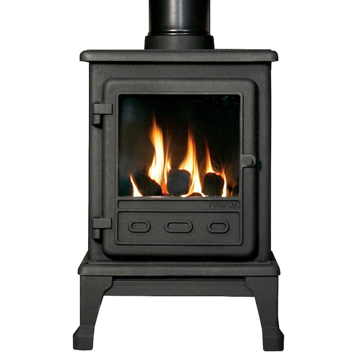 Gallery Firefox 5 Conventional Flue Gas Stove - Black