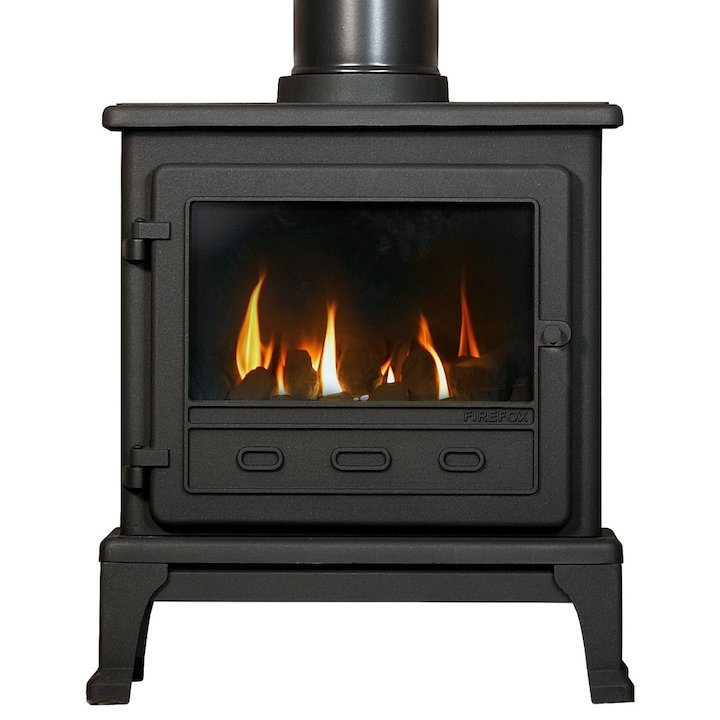 Gallery Firefox 8 Conventional Flue Gas Stove - Black