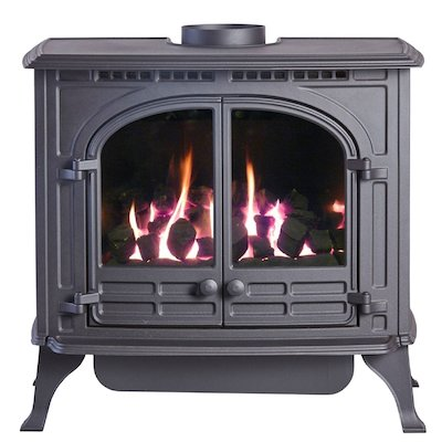 HS Gas Select 6 Conventional Flue Gas Stove Black LPG  Coal Effect