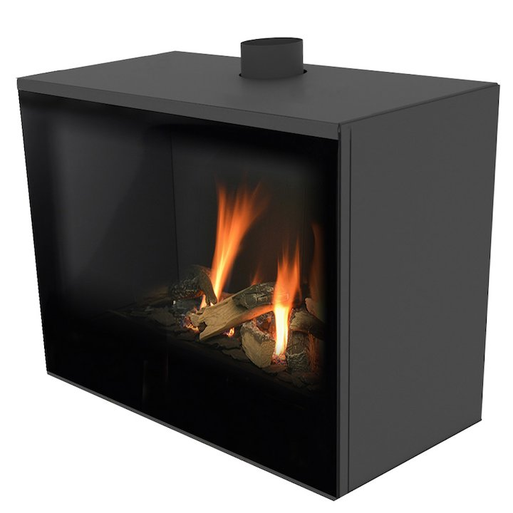 Planika Versal 750 Conventional Flue Gas Stove - Black