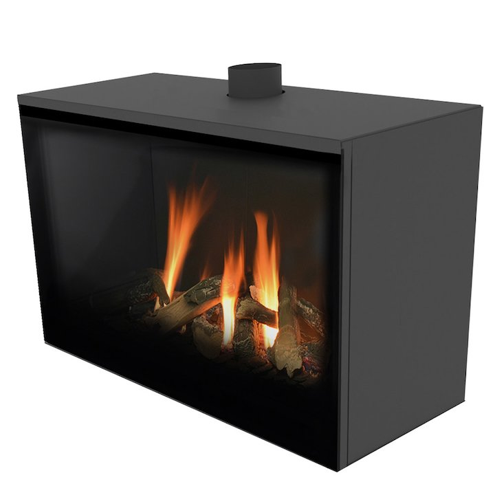 Planika Versal 900 Conventional Flue Gas Stove - Black