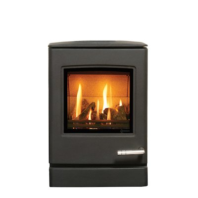 Yeoman CL3 Conventional Flue Gas Stove Anthracite LPG  Rear Flue Outlet