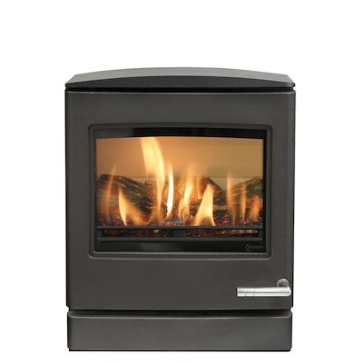 Yeoman CL5 Conventional Flue Gas Stove Anthracite LPG  Rear Flue Outlet