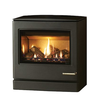 Yeoman CL8 Conventional Flue Gas Stove Anthracite LPG  Rear Flue Outlet