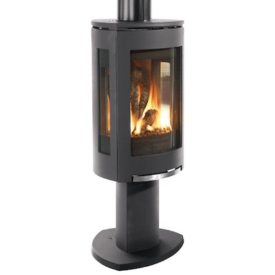 Jotul GF373 Balanced Flue Gas Stove Black Natural Gas Remote Control